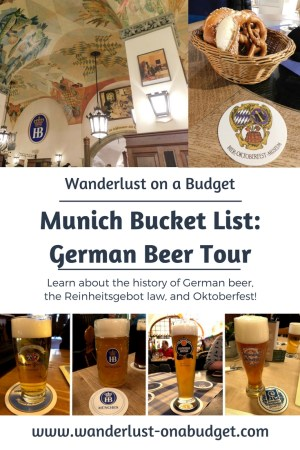 German Beer Tour in Munich - Hofbrauhaus, Augustiner, Lowenbrau, Spaten-Franziskaner, Paulaner, Hacker-Pschorr - www.wanderlust-onabudget.com