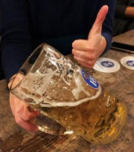 Tipped German Beer Hofbrauhaus Munich