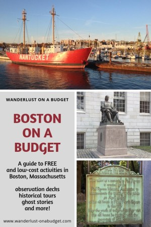 Boston on a Budget - free things to do in Boston - travel guide - Sam Adams Brewery - Boston Common - Faneuil Hall - Quincy Market - ghost tours - https://wanderlust-onabudget.com/boston-on-a-budget/