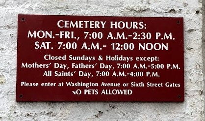 New Orleans - Lafayette Cemetery Hours