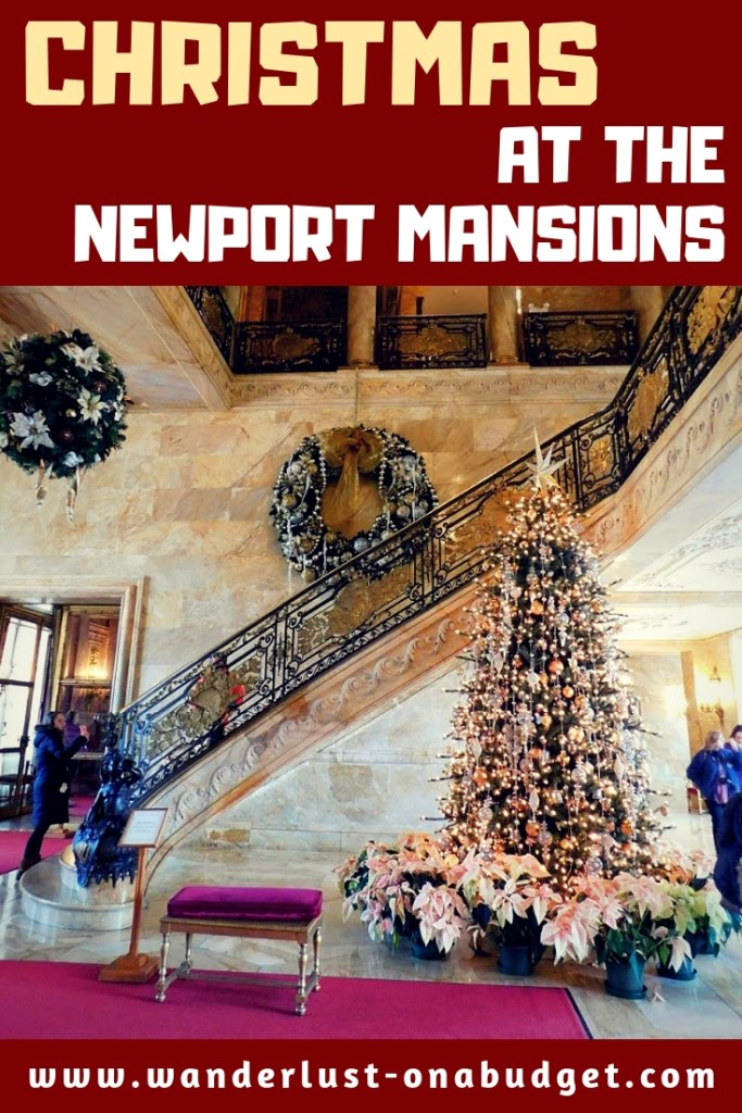 Newport mansions Christmas Rhode Island - The Breakers - The Elms - Marble House - Rosecliff | www.wanderlust-onabudget.com