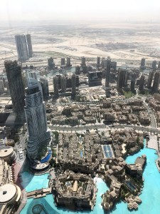 View from the Burj Khalifa Dubai