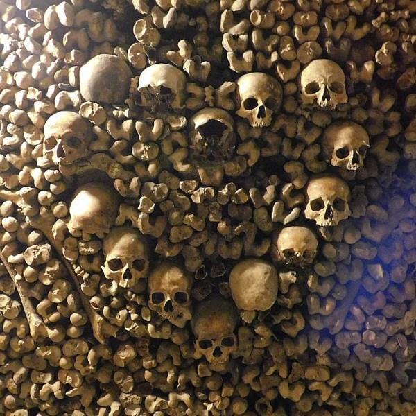 Paris Catacombs Bone Heart