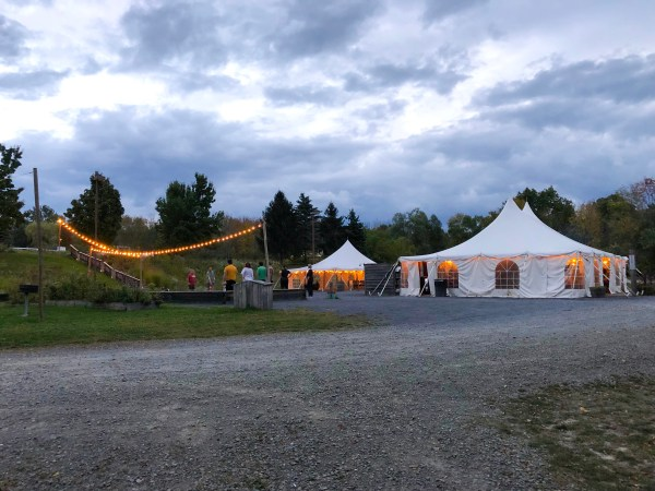 Glamping in Ithaca - Firelight Camps Main Tent