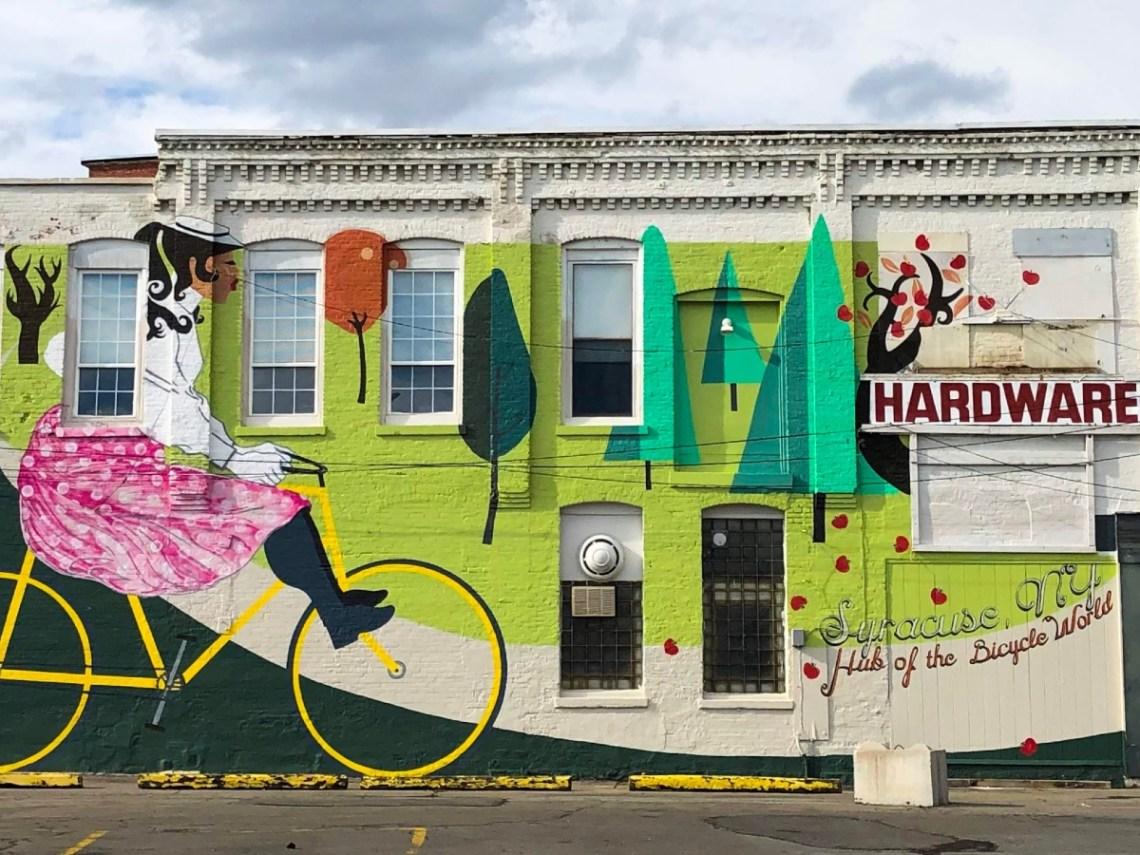Syracuse Street Art - Bicycle Mural
