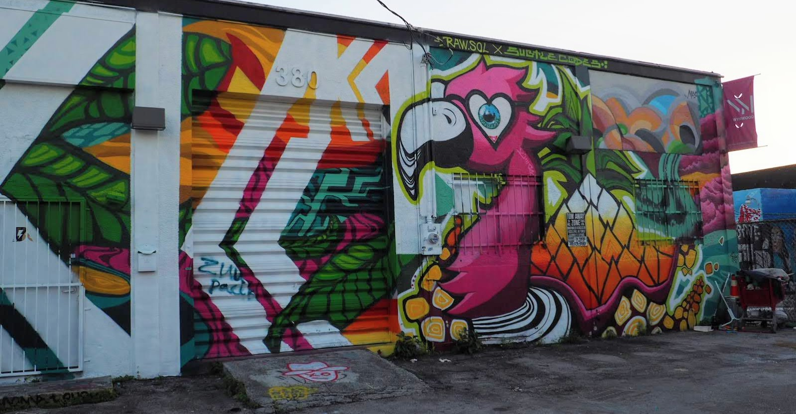 Flamingo Mural Wynwood