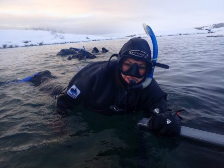 Snorkeling in Silfra - Exit