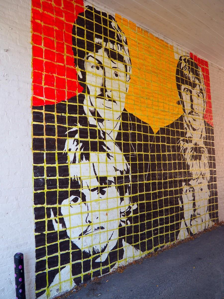 Beatles Mural in Clinton