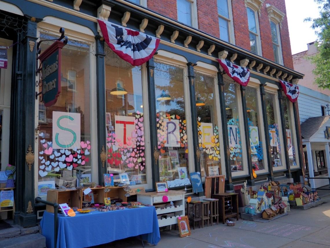 Clinton New York shop windows
