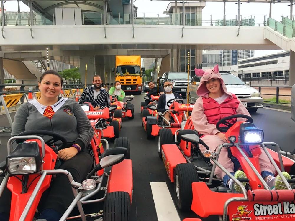 Go Karting in Japan on Rainbow Bridge