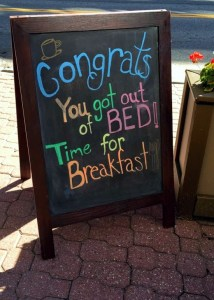 Time for Breakfast Sign