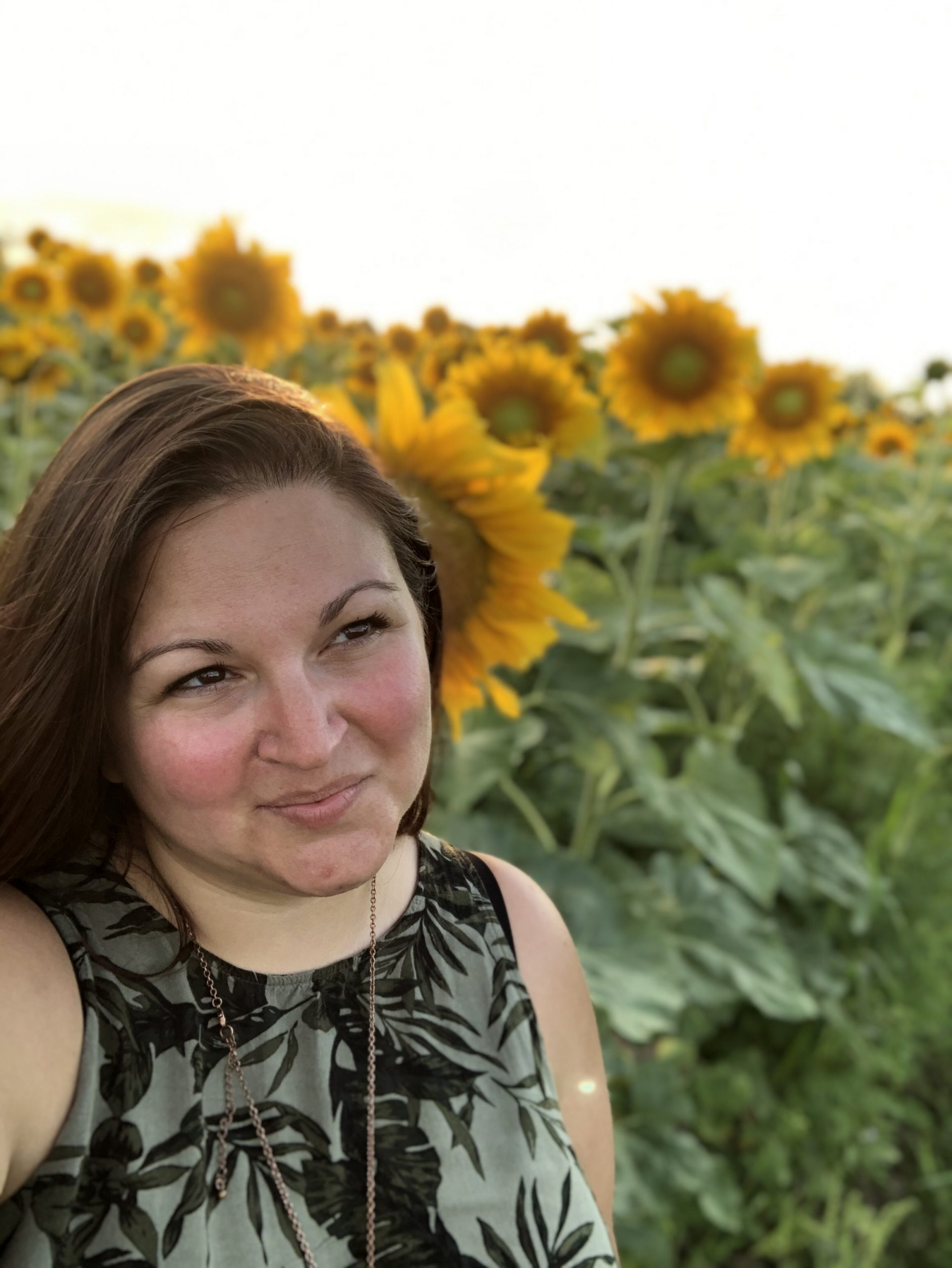 Dani with Sunflowers