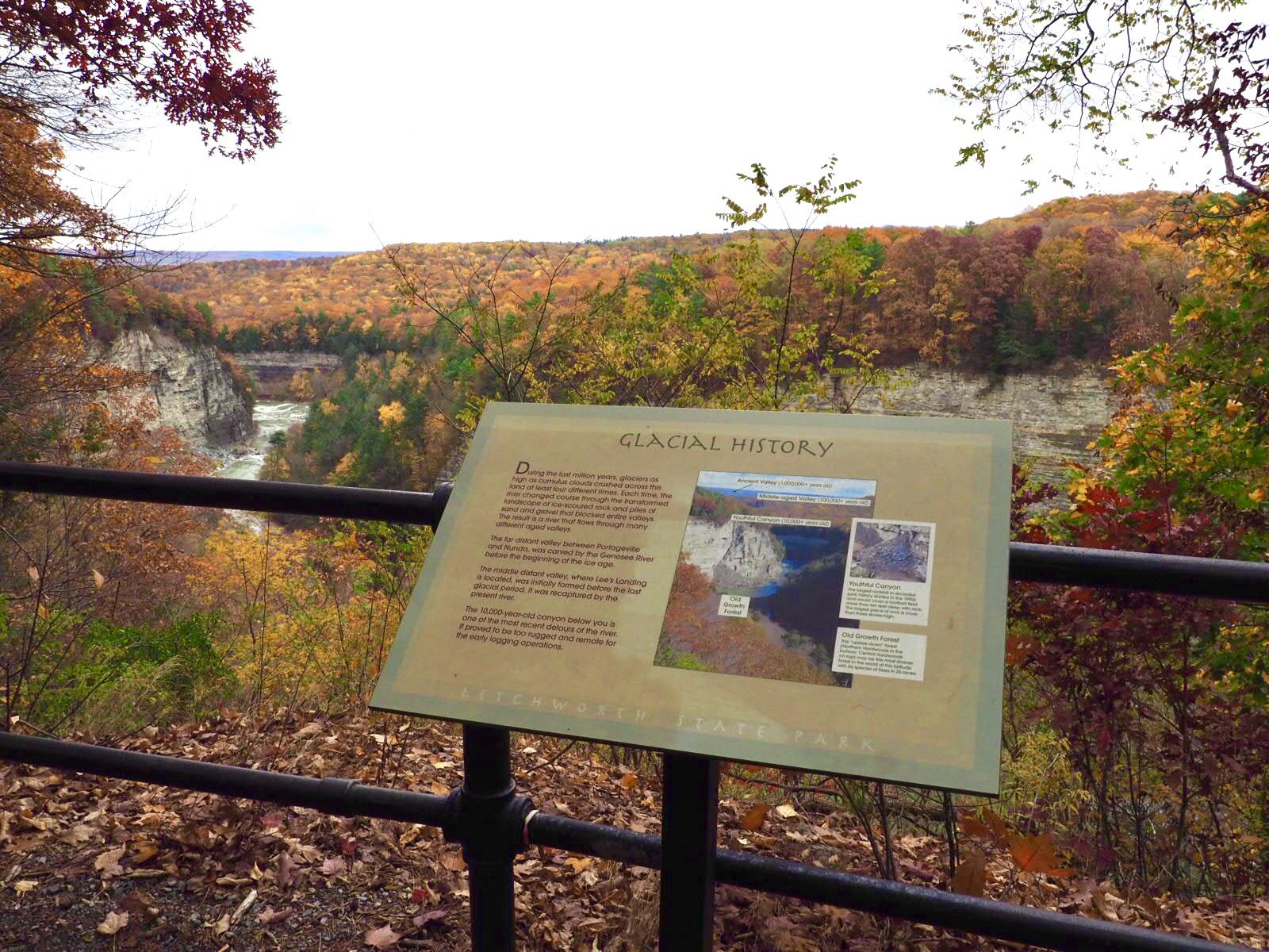 Letchworth State Park Sign