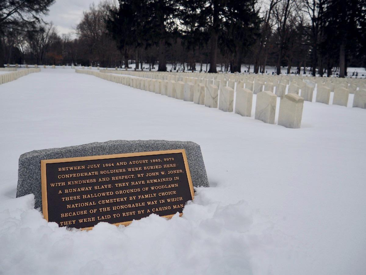 John Jones Cemetery Plaque