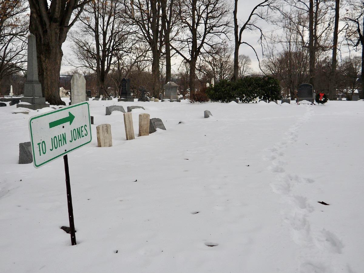 John Jones Grave Sign