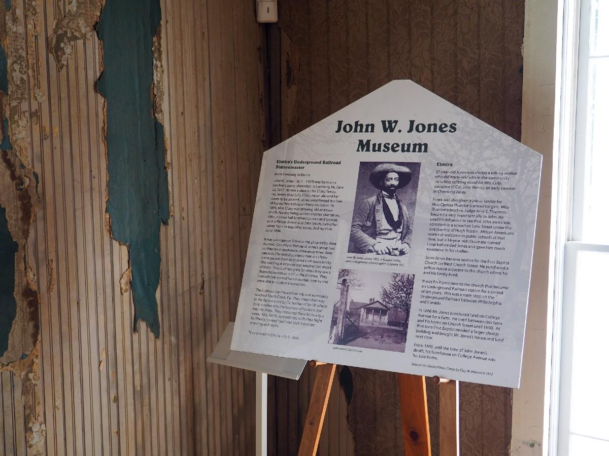 John W Jones Museum Sign