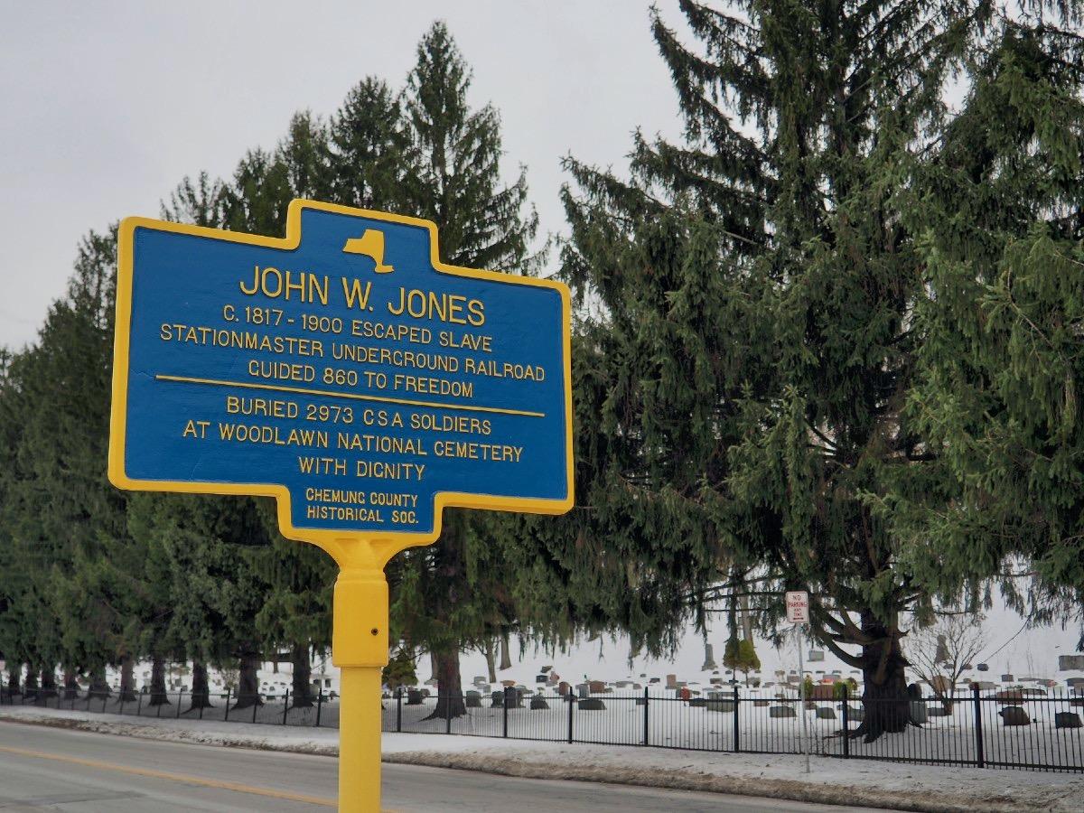 John W Jones Plaque