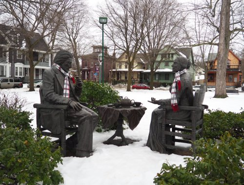Frederick Douglass and Susan B Anthony Statue in Rochester