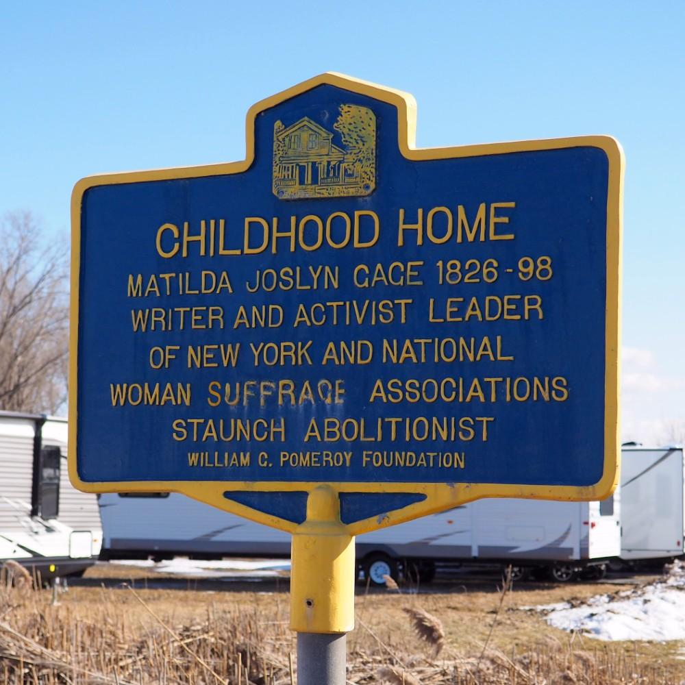 Matilda Joslyn Gage Childhood Home Marker