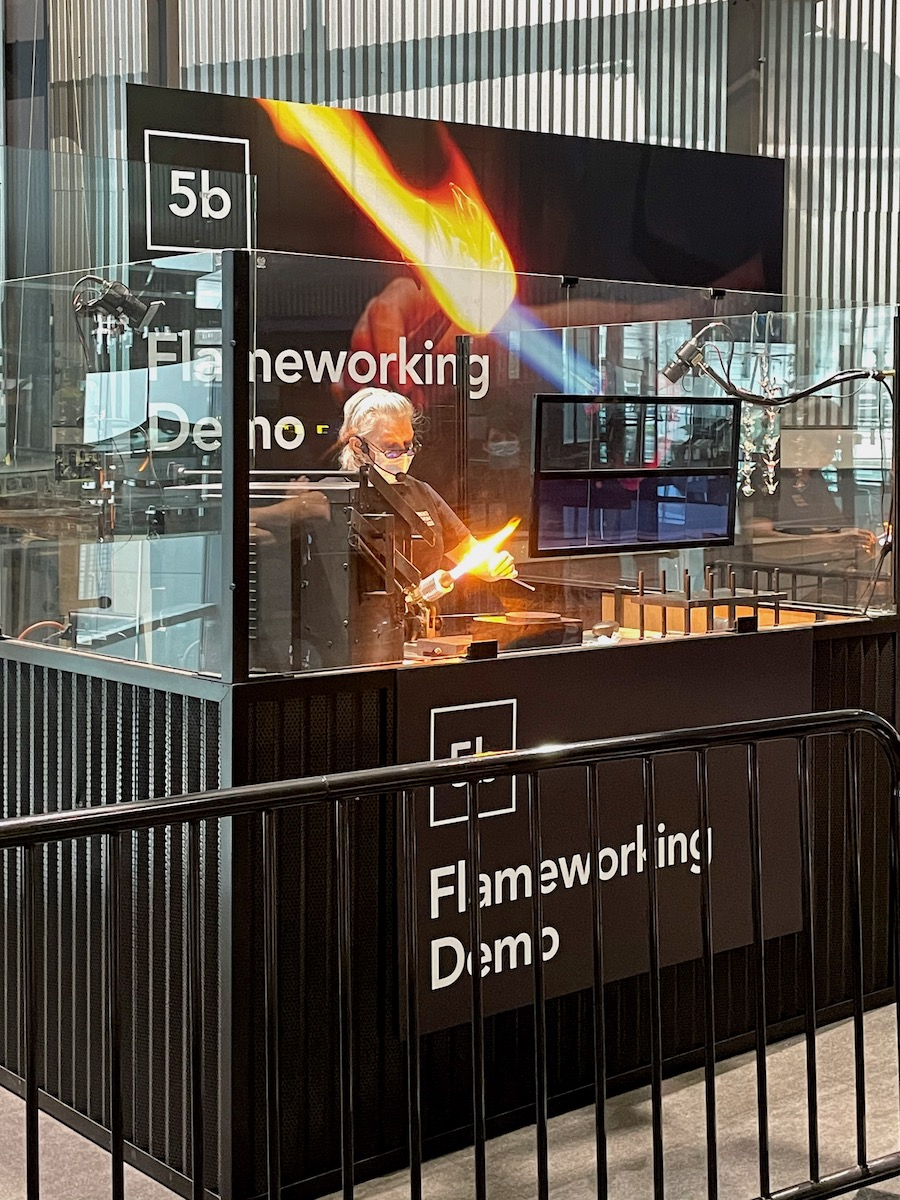 Flameworking at Corning Museum of Glass