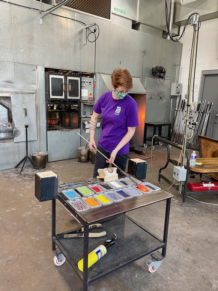 Glassblowing at Corning Museum of Glass