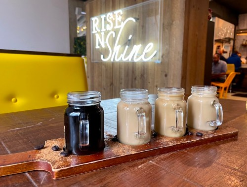 Coffee Flight at Rise N Shine