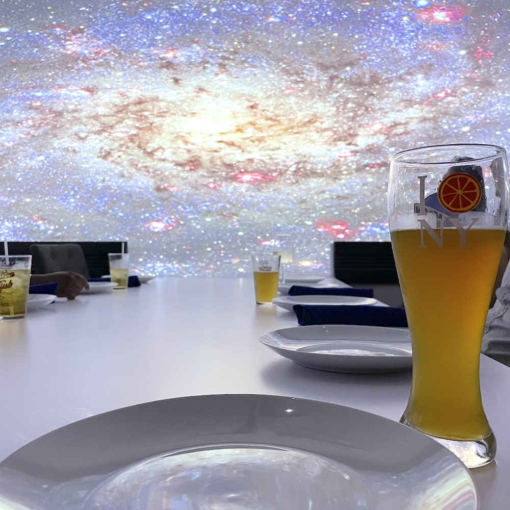 Virtual Dinner Galaxy Scene