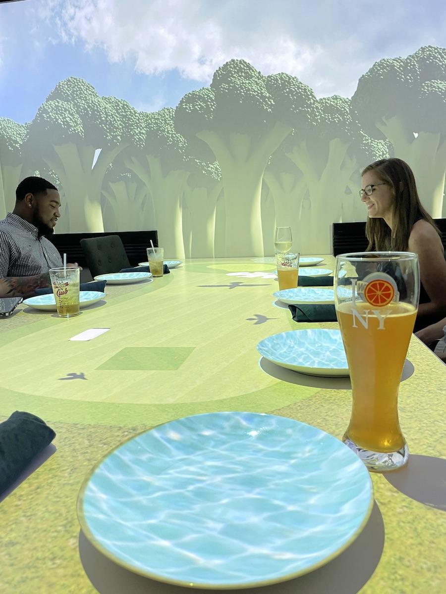 Virtual Dinner Golf Scene