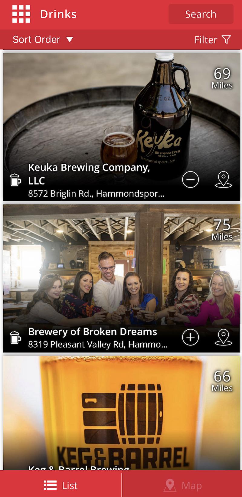 Craft Your Adventure App - Breweries