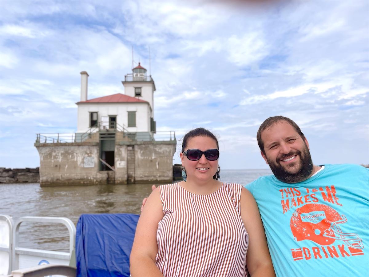 Dani and Josh at Oswego Lighthouse