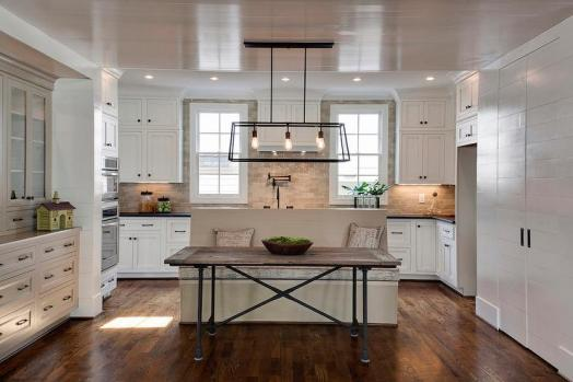 kitchen-island-bench-glazed-beige-subway-tile-backsplash