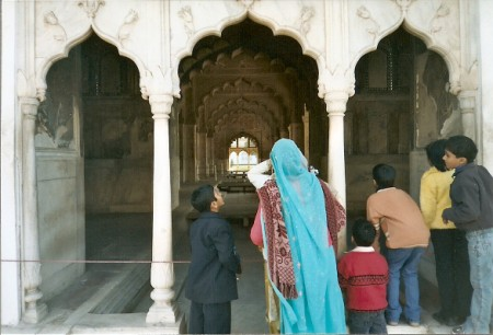 Family at Red Fort