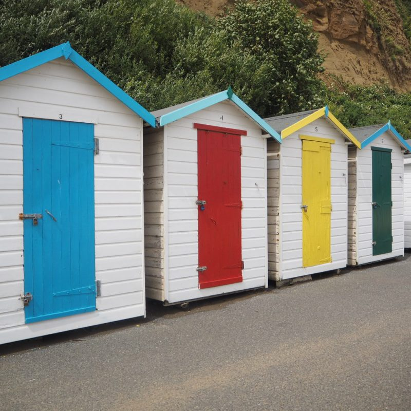 Beach huts on the isle of wight