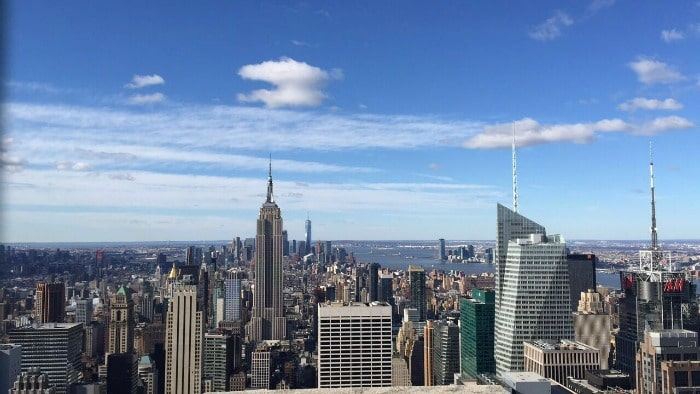 The View from the top of the rock
