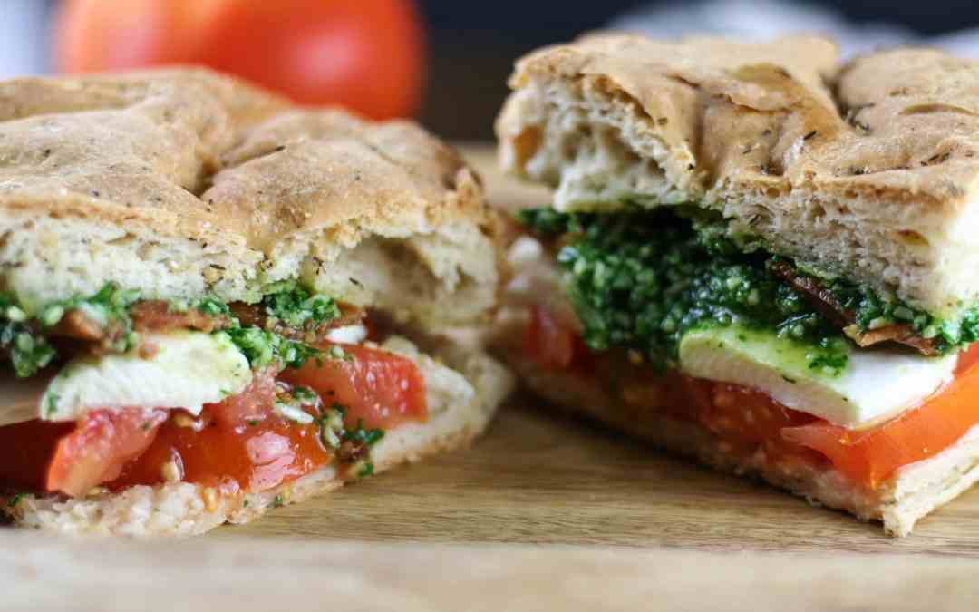Gluten-free Caprese BLT