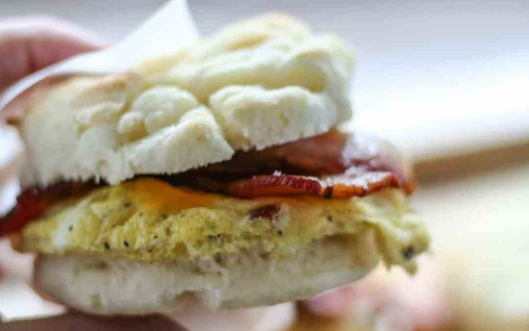 Gluten-Free Bacon, Egg & Cheese Biscuit