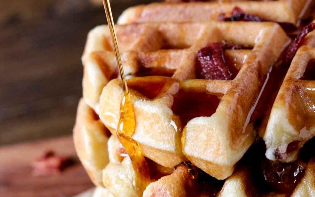 Paleo Bacon Waffles