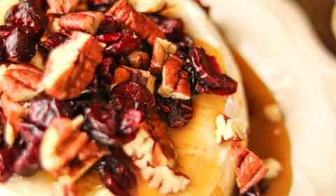 cranberry caramel baked brie