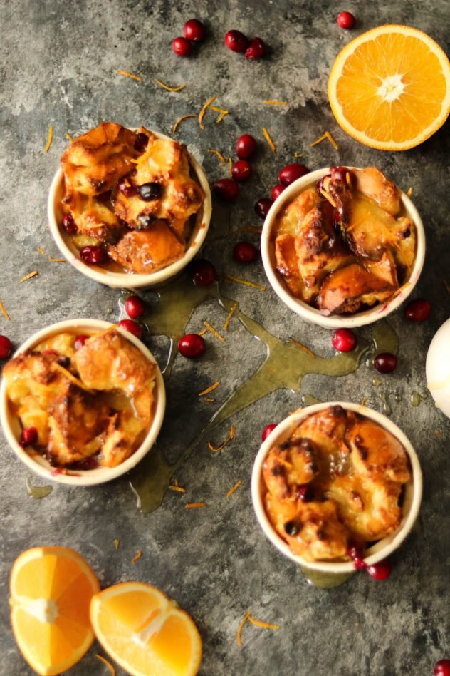 orange cranberry bread pudding