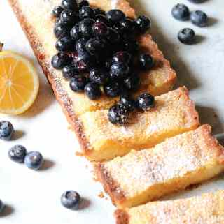 Lemon Blueberry Shortbread Tart