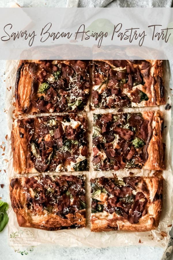 savory bacon asiago pastry tart
