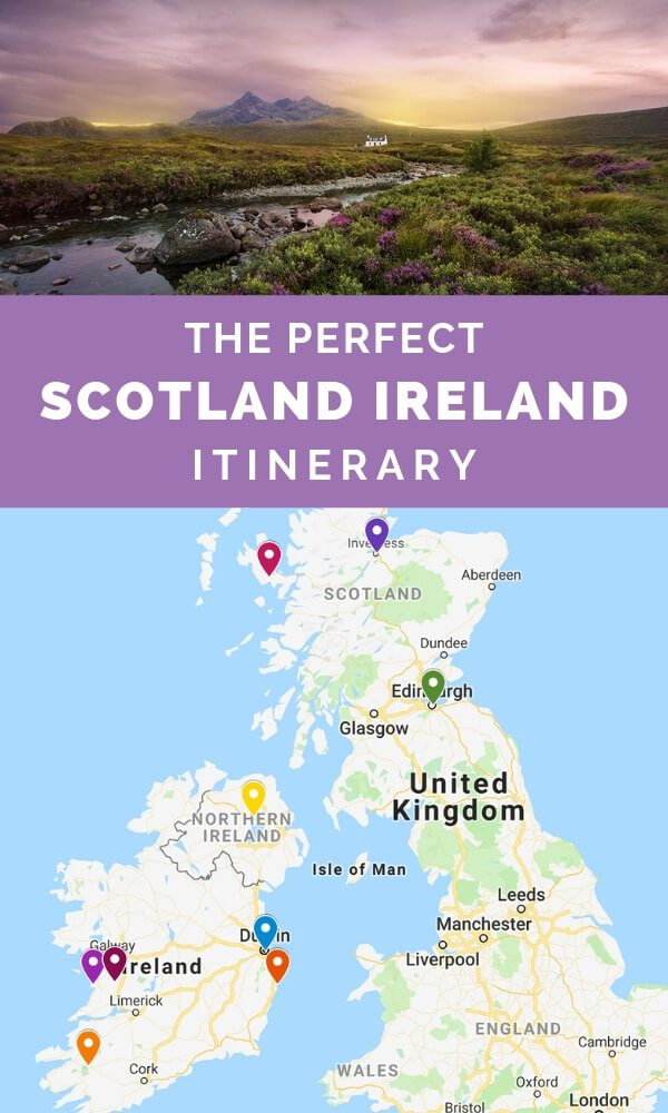 Map Of Scotland And Ireland : scotland, ireland, Perfect, Scotland, Ireland, Itinerary