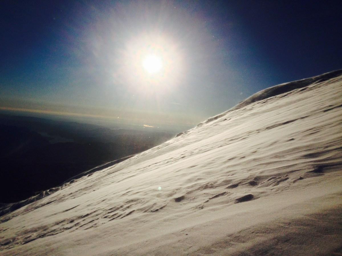 Slope of Mt St Helens