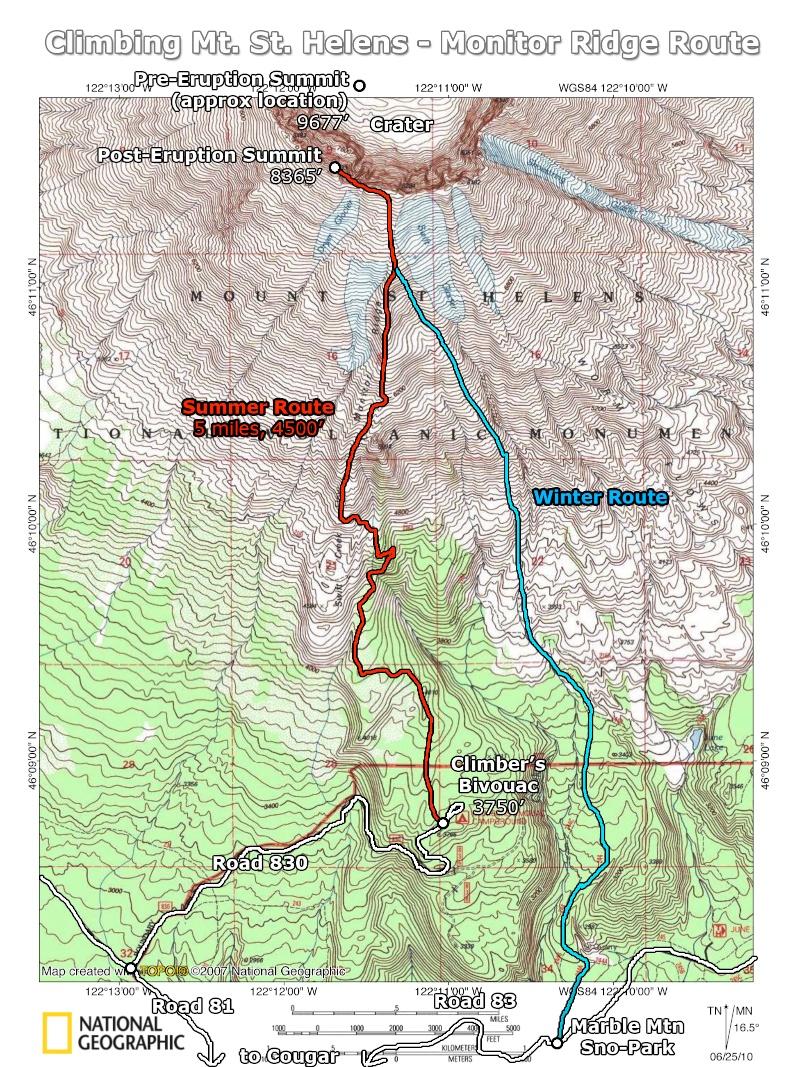 Source: Portland Hikers Field Guide - Mt St Helens Hike