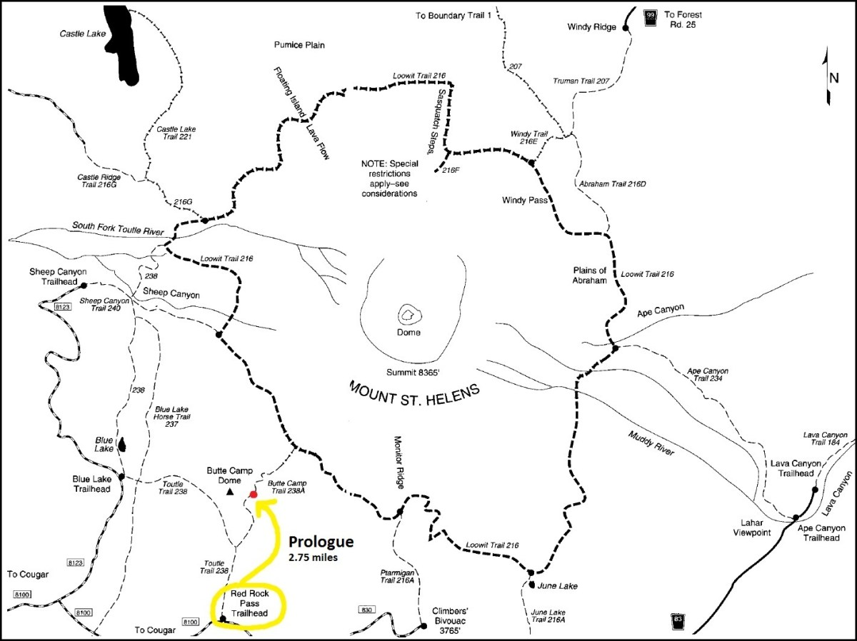 Prologue - Loowit Trail Map