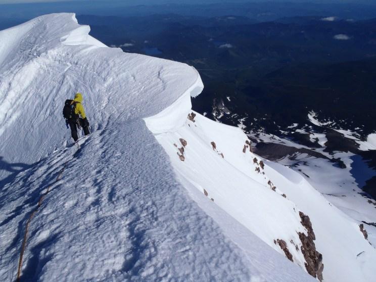 Cornice on the summit ridge. - Photo courtesy of Scott Withers/Fox12weather