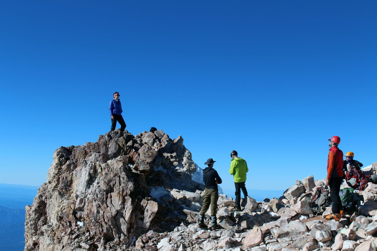 Happy climbers on the summit of Mt. Shasta - June 2017
