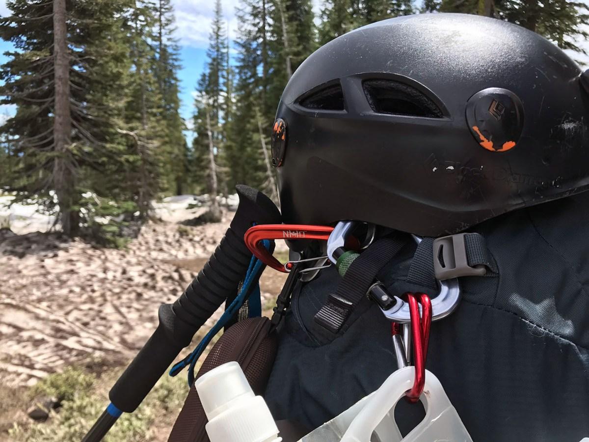 Black Diamond helmet - Mt. Shasta - June 2017