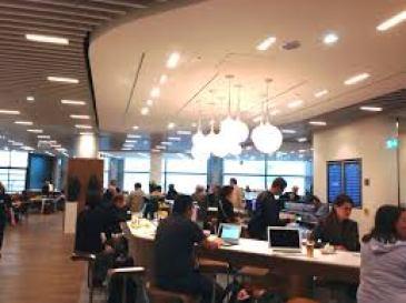 Recharging in the Business Lounge in Frankfurt