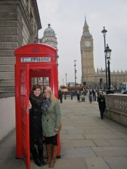 Red phone booth with Big Ben in the back ground!